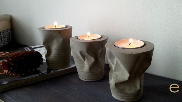 Betonowe świeczniki